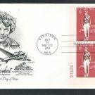 Amelia Earhart, Aviatrix, Woman Aviation, AM Plate Block 1963 First Issue USA