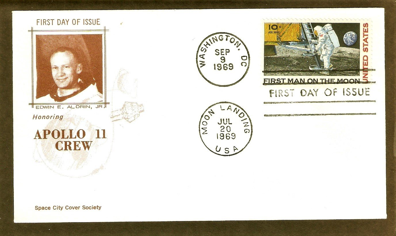 Apollo 11 Space Astronauts, First Man on Moon, NASA 1969 SCCS  First Issue USA