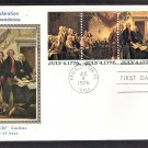Bicentennial, The Declaration of Independence Painting by John Trumbull CS First Day Cover 1976 USA