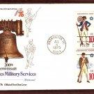 Bicentennial Revolutionary War Continental Uniforms, Liberty Bell First Day Issue Cover, 1975 USA