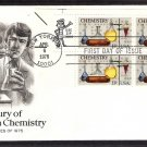 100th Anniversary of the American Chemical Society, ACS, Chemistry, First Issue FDC USA