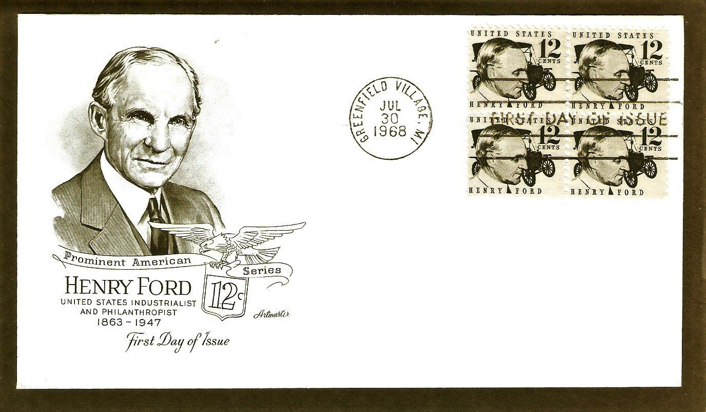 Honoring Henry Ford, Model T Automobile, AM First Issue USA