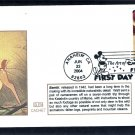 Walt Disney Animation Cartoon Characters Art, Bambi, Thumper, Glen First Issue FDC USA