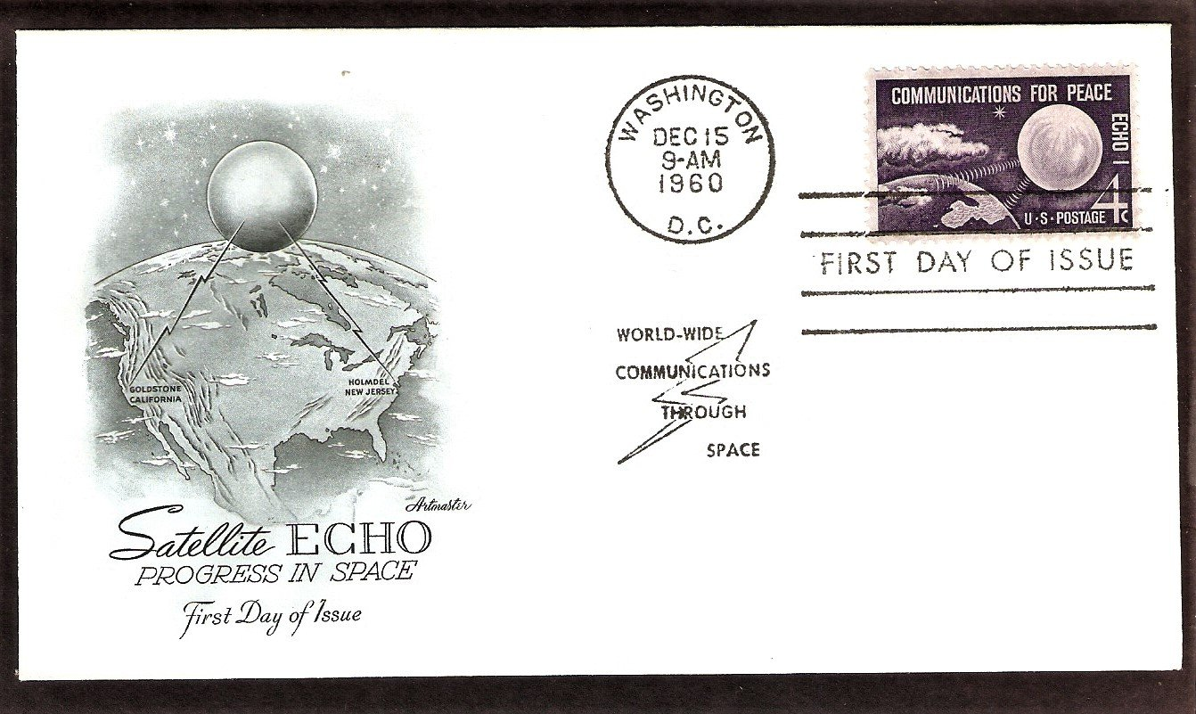 ECHO 1, First Communications Satellite, NASA, 1960 AM, First Issue USA
