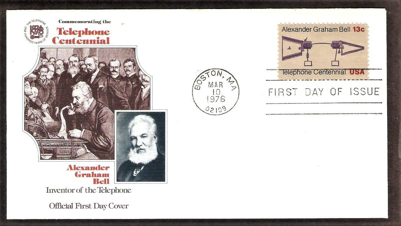 Alexander Graham Bell, Telephone Centennial, FW, First Issue USA