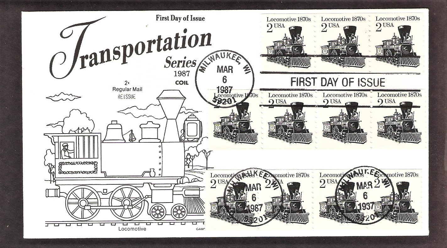Steam Locomotive 1870s, Railroad, The American Express Train, Gamm, First Issue USA