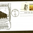 Aberdeen Black Angus, Cattle, Western Beef, Lowry, First Issue USA