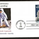 20th Anniversary, First Man Moon Landing, Priority Mail, FW, First Issue USA