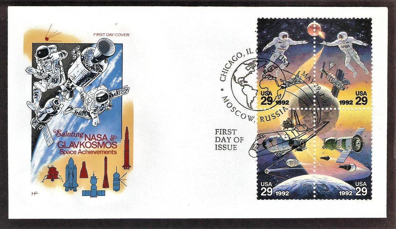 Space, Astronaut, Cosmonaut, NASA Shuttle, Soyuz, Gemini, Spacecraft First Issue, HF, FDC