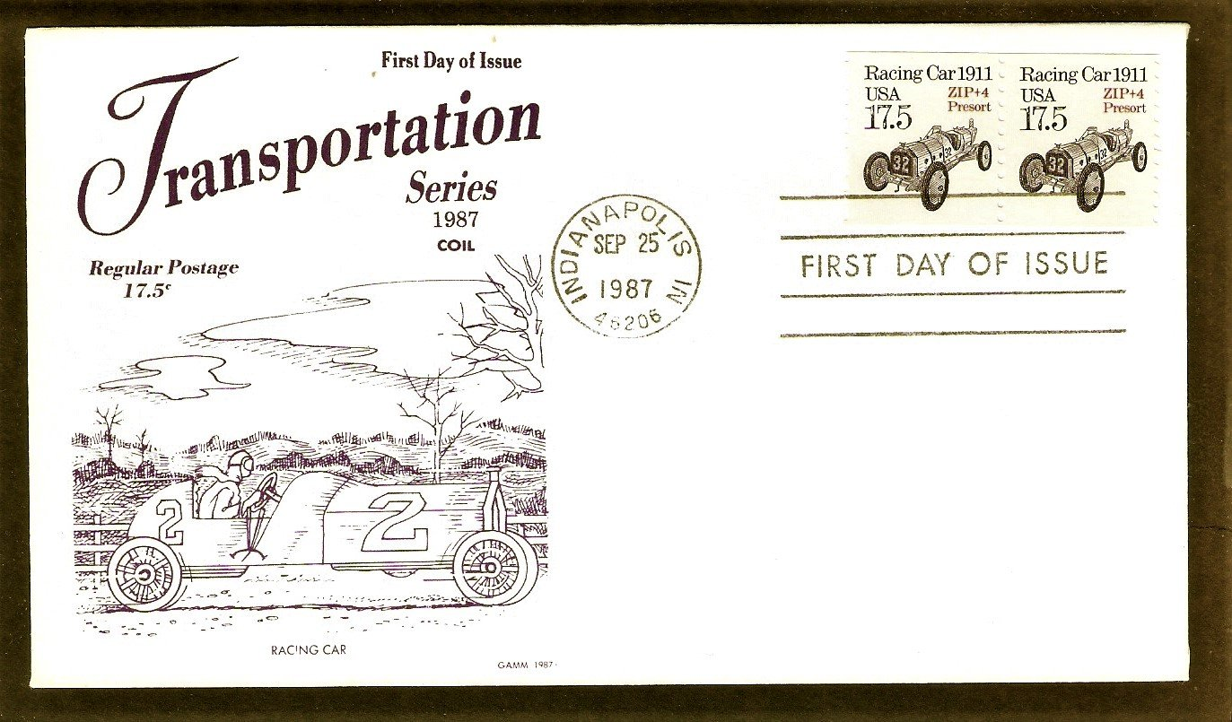 Marmon Wasp, First Indy 500 Winner, Indianapolis Racing Car, Gamm, First Issue, Glen FDC USA