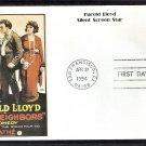 Silent Screen Stars, Harold Lloyd, Al Hirschfeld, Just Neighbors, First Day of Issue USA