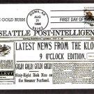 100th Anniversary Klondike Gold Rush Skagway, Alaska, BGC, First Issue USA