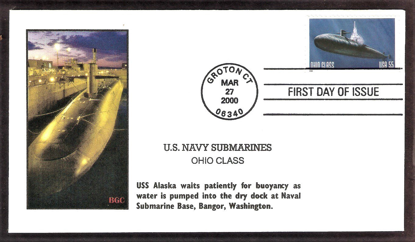 U. S. Navy Submarines, Ohio Class USS Alaska (SSBN-732) , First Issue USA