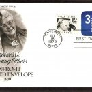 Authorized Nonprofit Organization Embossed Envelope, Happiness is Helping Others, First Issue USA