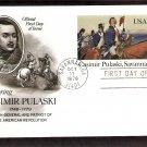 Casimir Pulaski, Polish General, Savannah, 1779, Postal Card, First Issue USA