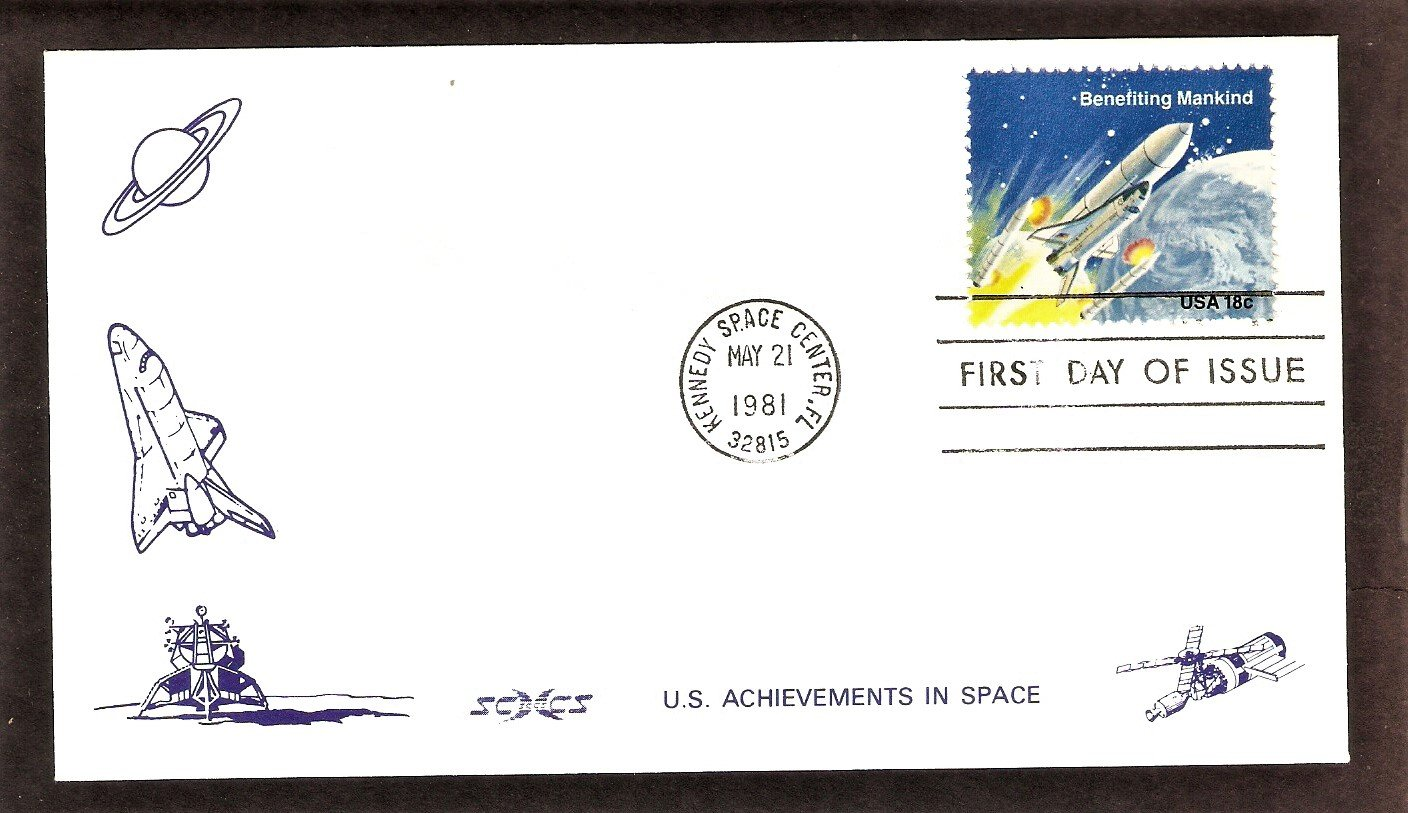 NASA Mission, Columbia Space Shuttle, 1981 Kennedy Space Center, SCCS-3, First Issue USA