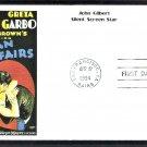 Silent Screen Stars, John Gilbert, Al Hirschfeld, A Woman of Affairs, First Day of Issue USA
