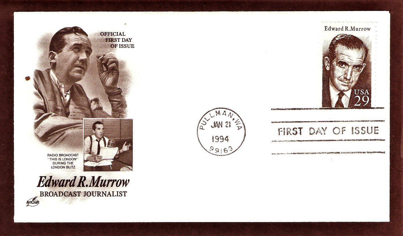 Honoring Edward R. Murrow, Broadcast Journalist, AC, First Issue USA