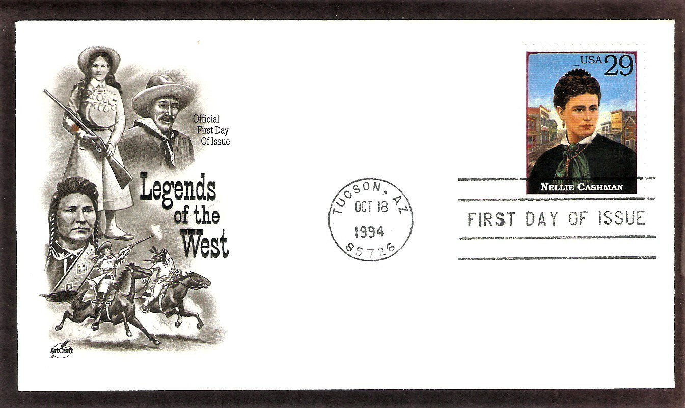 Legends of the West, Honoring Nellie Cashman, AC, First Issue USA
