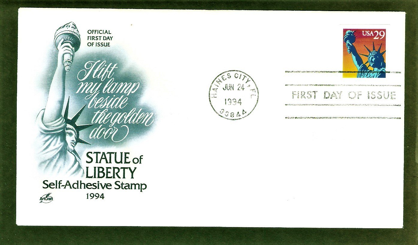 Statue of Liberty, Lift my lamp beside the golden door, AC, First Issue USA