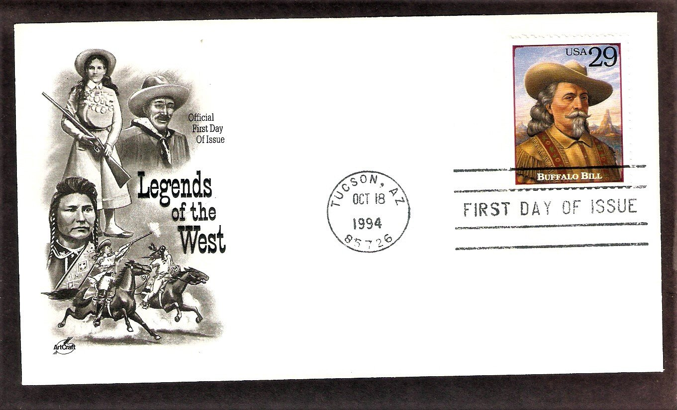 Buffalo Bill Cody, Legends of the West, AC, First Issue USA