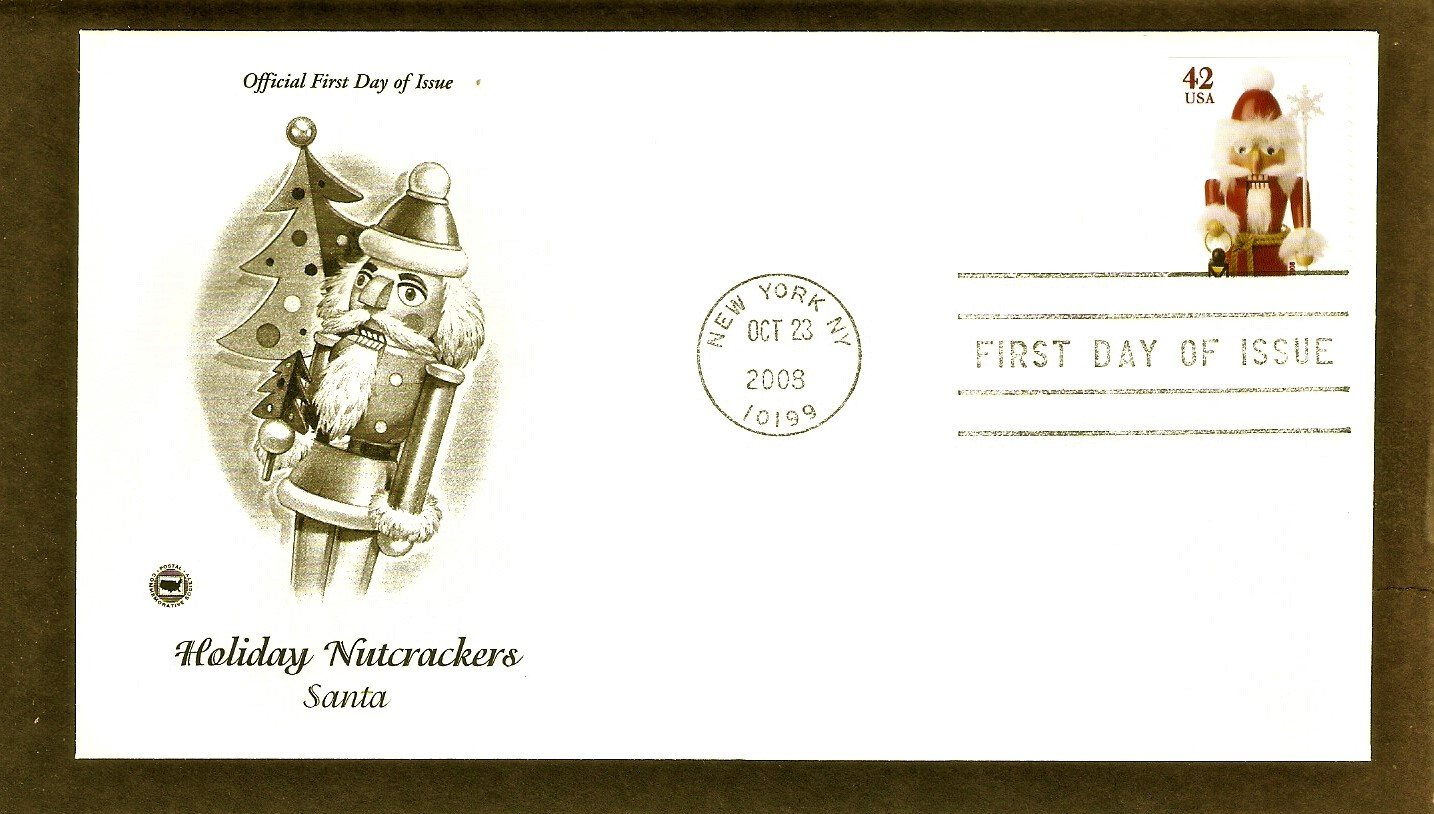 Holiday Nutcrackers, Santa, Christmas Stamp, PCS, 2008 First Issue USA