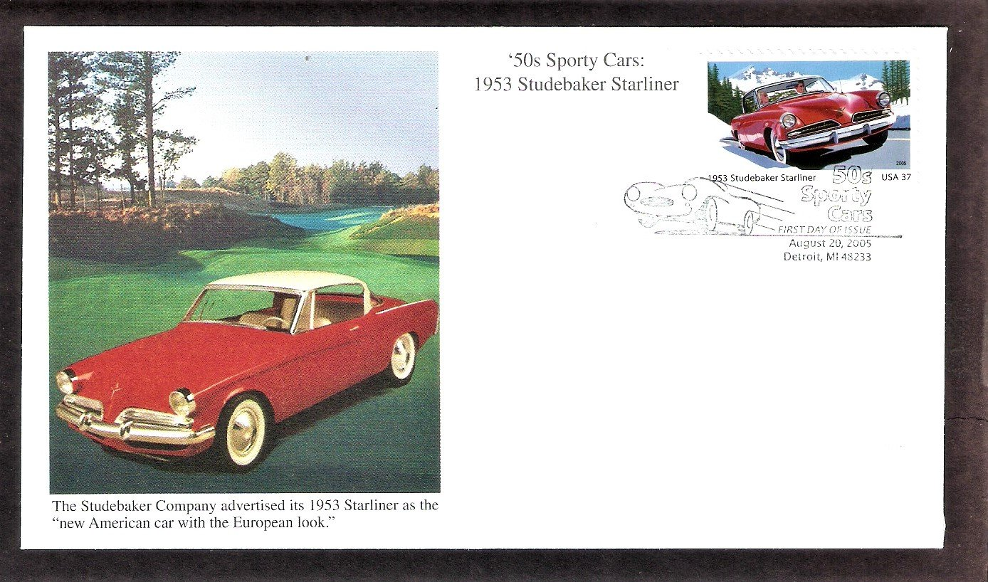 50s Sporty Cars, 1953 Studebaker Starliner, Detroit, Michigan, Mystic, First Issue USA