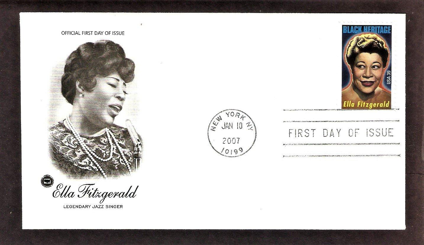 Black Heritage, Legendary Jazz Singer Ella Fitzgerald, PCS, First Issue USA