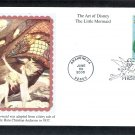 Walt Disney Art, Little Mermaid, Ariel, Flounder, Mystic, First Issue FDC USA