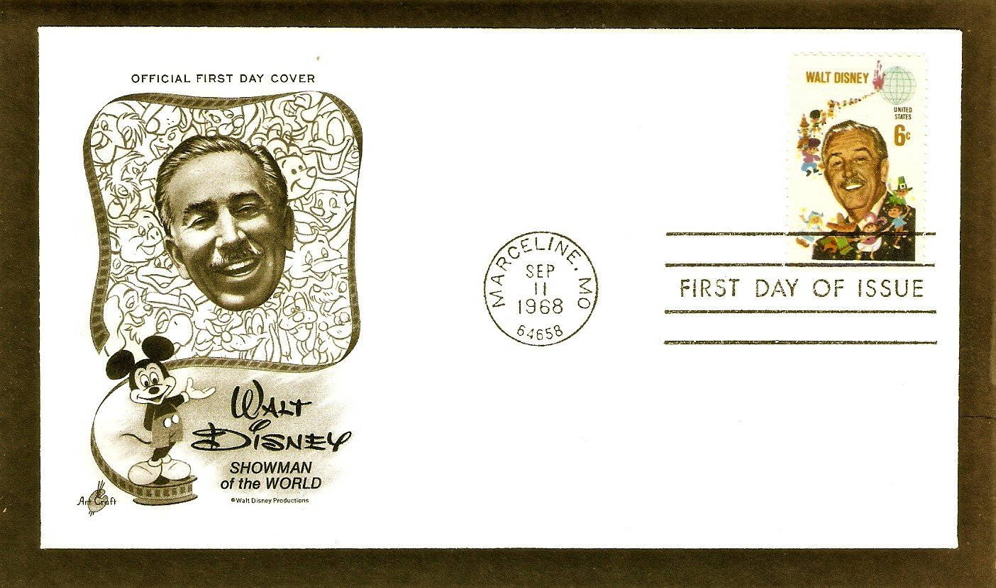 Honoring Walt Disney 1968 First Issue FDC USA