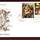 Great Lakes Dunes Plants and Animals, Red Fox, PCS, First Issue USA