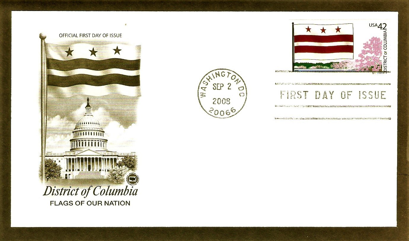 Flags of Our Nation, District of Columbia, PCS, First Issue USA