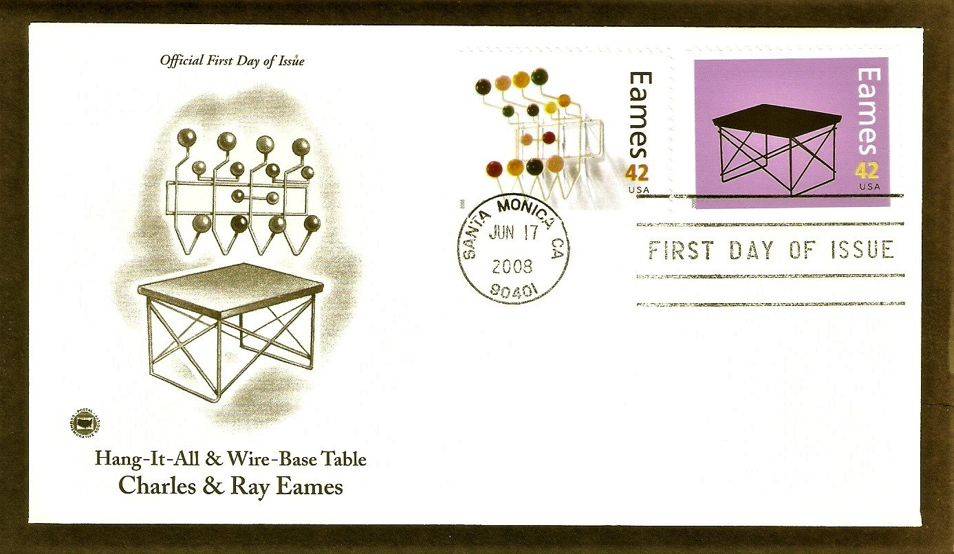 Modern Design Artists, Charles and Ray Eames, Hang-It-All and Wire-Base Table, PCS, First Issue