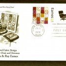 Modern Design Artists, Eames, Crosspatch Fabric Design & Lounge Chair and Ottoman, PCS, FDC
