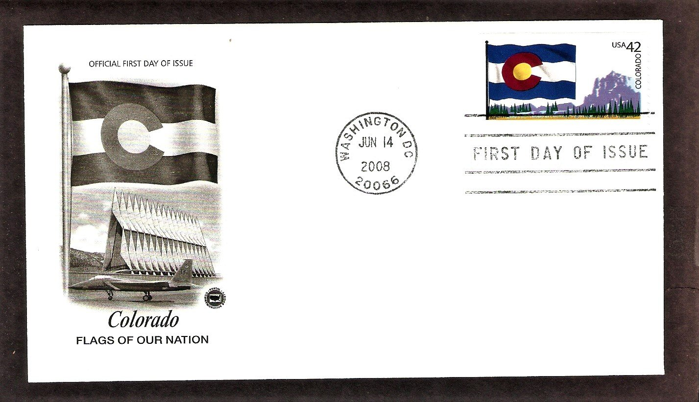 Flags of Our Nation, Colorado, PCS, First Issue USA