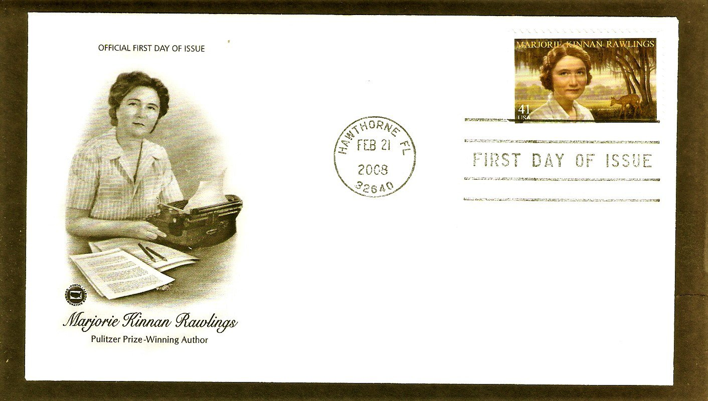 Pulitzer Prize-Winning Author Marjorie Kinnan Rawlings, PCS, First Issue USA