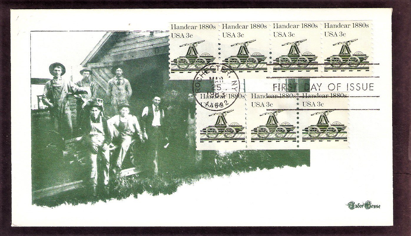 Railroad Handcar 1880s, Transportation, TH, First Issue USA