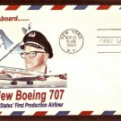 Jet Silhouette U.S Postage Embossed Envelope, The New Boeing 707, American Airlines, 1958