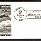 Air Mail Postage Stamp, DC-4 Skymaster Aircraft, FW, 1949 First Issue USA