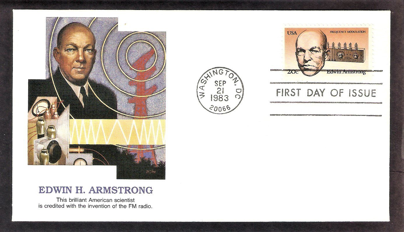 Edwin Armstrong, Inventor, Father of FM Radio, 1983, FW, First Issue USA
