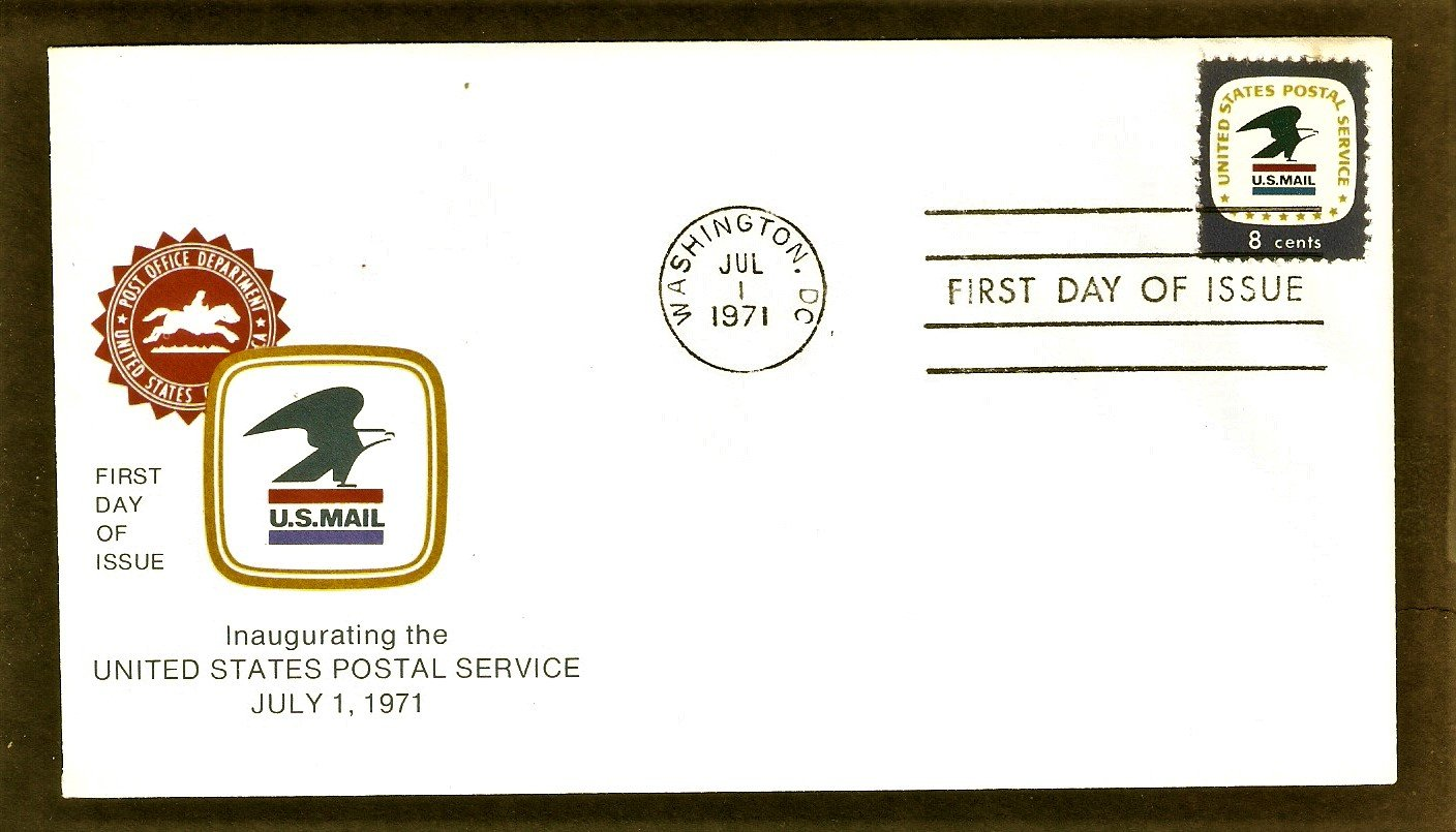 Inaugurating the United States Postal Service, Bald Eagle U.S. Mail Emblem, First Issue USA