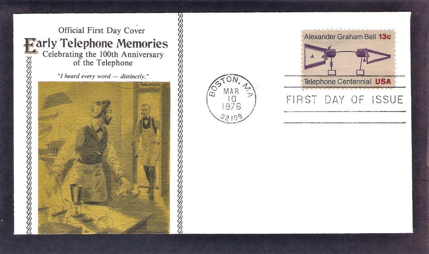 Alexander Graham Bell, Telephone Centennial, FW (E), First Issue USA