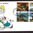 Dinosaurs, Tyrannosaurus, Pteranodon, Stegosaurus, First Issue Eillis Hand Colored FDC