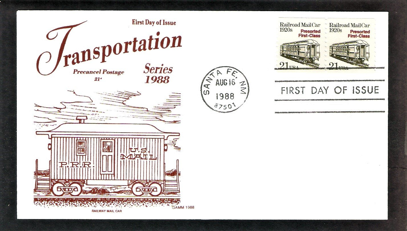 Post Office Railroad Mail Car 1920s, Gamm, First Issue USA