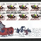 Christmas Stamp USPS, Sleigh, 1989 Gamm, First Issue USA