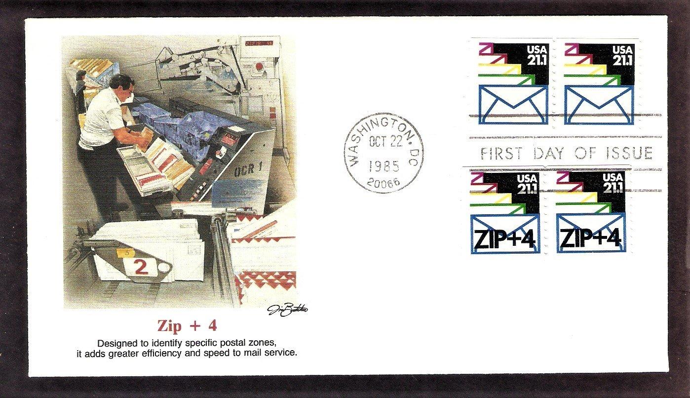 Zip Plus 4, U.S. Postal Service Mail, FW, First Issue USPS USA