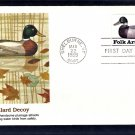 Duck Decoys Folk Art Carvings, Mallard Decoy, FW First Issue USA FDC