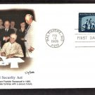 50th Anniversary Social Security Act, FDR, FW, First Issue USA
