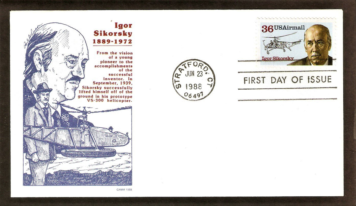 Igor Sikorsky, Helicopter, Aircraft Aviation, Stratford, Connecticut, Gamm, First Issue USA