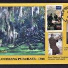 Louisiana Purchase Bicentennial, BGC, First Issue USA